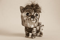 Dog Figurine-Yorkshire Terrier Royalty Free Stock Photography