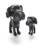 Dog Figurines. On Isolated White Background Royalty Free Stock Image