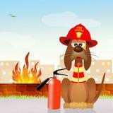 Dog firefighter Stock Image