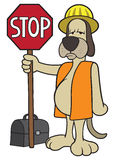 Dog Flagger Stock Photography