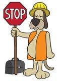 Dog Flagger Stock Photography