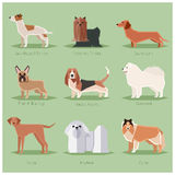 Dog flat icons set Royalty Free Stock Photography