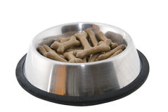 Dog food. Close shoot of dish full with dog food Stock Images