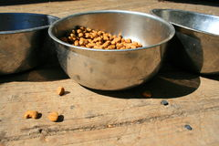Dog Food. Close up of a dog food in a bowl Royalty Free Stock Image