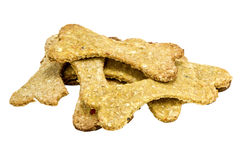 Dog food biscuit shaped like a bones Royalty Free Stock Photo