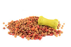 Dog food and bone toy Royalty Free Stock Photos
