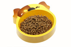 Dog food bowl Royalty Free Stock Photography