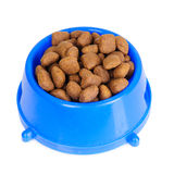 Dog food in bowl Royalty Free Stock Photography
