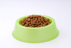 Dog food on bowl Stock Image