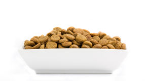 Dog food in a bowl Royalty Free Stock Images