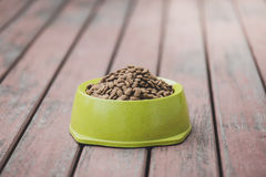 Dog food in a bowl Stock Photography