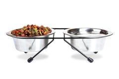 Dog food bowls Royalty Free Stock Photography