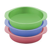 Dog food bowls Stock Images