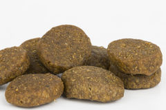 Dog food. Dry  dog and cat food macro Royalty Free Stock Images