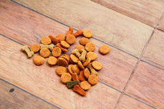 Dog food on the ground Stock Photography