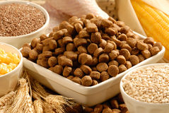 Dog Food and ingredients Stock Photography