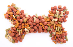 Dog food isolated Royalty Free Stock Images