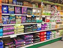 Dog food or kibble in sacks. Royalty Free Stock Photo