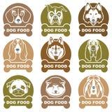 Dog food labels set Stock Photos