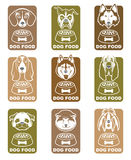 Dog food labels set Royalty Free Stock Photography