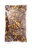 Dog food pack top view Stock Photo