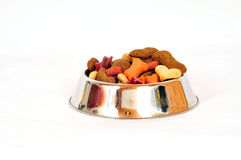 Dog food pet bowl Royalty Free Stock Images