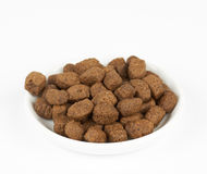 Dog food on plate Stock Photo