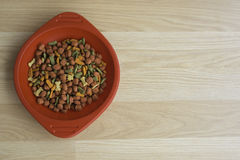 Dog food in redcup. Dogfood in redcup food red pet Stock Photos