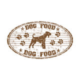Dog food rubber stamp Royalty Free Stock Image