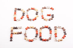 Dog food text Stock Images