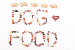Dog food text Royalty Free Stock Photo