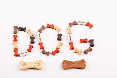 Dog food text Stock Photo