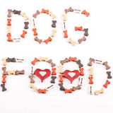 Dog food text. Created from small bones Royalty Free Stock Photo