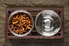 Dog Food and Water Stock Photography