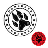 Dog foot print stamp Royalty Free Stock Photo