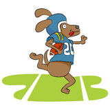 Dog Football Player Royalty Free Stock Photography