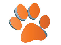 Dog footprint Royalty Free Stock Photos
