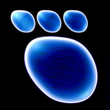 Dog footprint Royalty Free Stock Photography