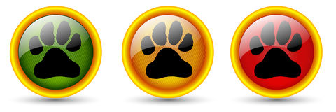 Dog footprint buttons Royalty Free Stock Photography