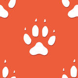 Dog footprint seamless pattern Royalty Free Stock Image