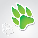 Dog footprint sticker Royalty Free Stock Images
