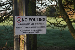 Dog fouling notice. Royalty Free Stock Photography