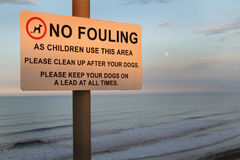 Dog fouling sign. Royalty Free Stock Photography