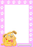 Dog frame Royalty Free Stock Images
