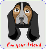 Dog-friend- illustration. Dog-friend vector cartoon illustration Royalty Free Stock Image