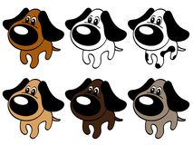 Dog friendly with a big nose Royalty Free Stock Image