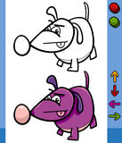 Dog game character cartoon illustration Royalty Free Stock Images