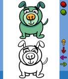 Dog game character cartoon illustration Stock Image
