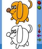 Dog game character cartoon illustration Royalty Free Stock Photos
