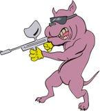 Dog gangster cartoon Stock Images